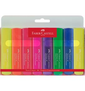 Faber-Castell - Textliner 46 Superflourescent, wallet of 8