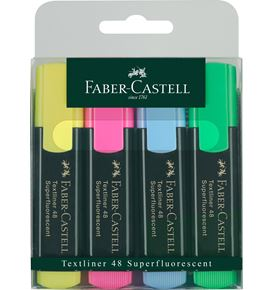 Faber-Castell - Textliner 48 Superfluorescent, wallet of 4