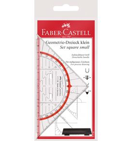 Faber-Castell - Set square, small, with handle, 14 cm